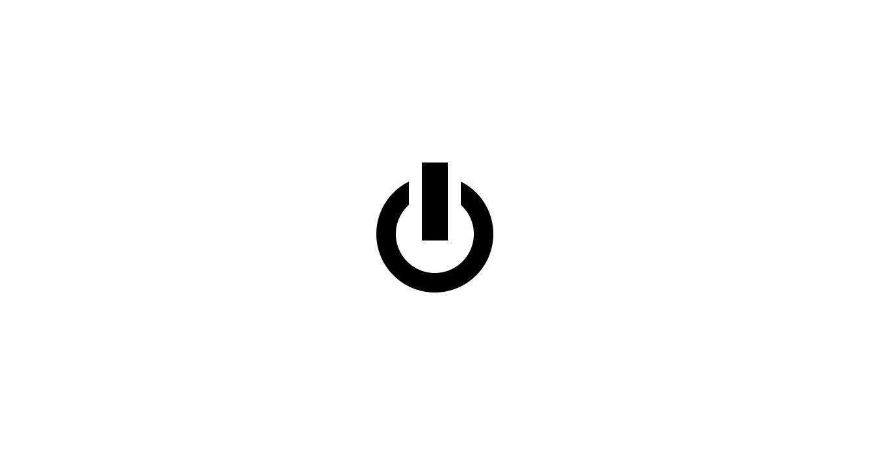 CSSで描いた電源アイコン